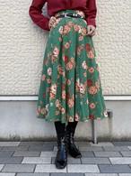 (TOYO) flower pattern flare skirt