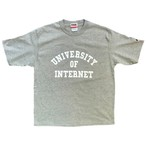 UNIVERSITY OF INTERNET TEE / OxfordGrey×White