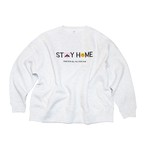 "【受注販売】HOPELESS ""STAY HOME"" Slogan Sweatshirts  LIGHT GREY"