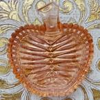 チェコスロバキア ボヘミアガラス りんごの小皿