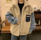 異素材MIX♡ デニム×ボアジャケット♡コート♡