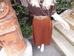 Vintage 80s velour flare skirt