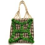 Mexico Wool Bag _01(メキシコ ウール ポンポン フリンジ ハンモック バッグ)