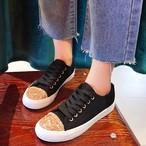 【shoes】ストリート系スパンコール切り替えスニーカー20284472