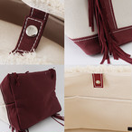SideFringeToteBag[S]BORDEAUX