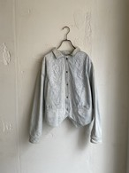 """PULSE"" vintage lace design denim jacket"