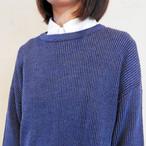 drop shoulder rib knit