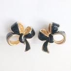black bow  earring[e-1207] ヴィンテージイヤリング