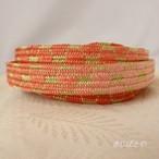 正絹 網目の平組の帯締め 珊瑚