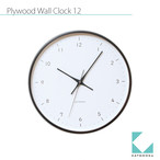 KATOMOKU plywood wall clock 12 km-80B ブラウン