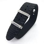 ジュビリー シングルパス(引き通し) ナイロンストラップ ブラック 18/20mm 腕時計ベルト