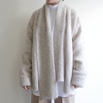 JUN MIKAMI 【 womens 】mohair long shaggy cardigan & stole