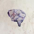 染めオーガンジーの片耳アートピアス|ラベンダー