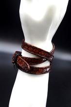 Item No.0297: Long Smooth Bracelet/Diamond Python《Enamel Orange》