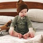 【子供服】大人気かわいい無地ニット純綿シンプルベビーオールインワン23028351