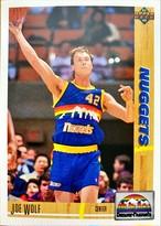 NBAカード 91-92UPPERDECK Joe Wolf #297 NUGGETS