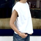 TUCK IN SLEEVE TOP/WHITE