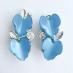blue leaf earring[e-694]