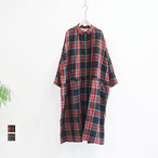 ICHI Antiquites イチアンティークス LINEN TARTAN CHECK DRESS リネンタータンチェックワンピース (品番600616)