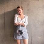 MEME original gingham check skirt