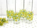 昭和レトロ 小さな黄色いお花がかわいいグラス