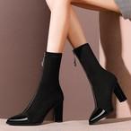 【shoes】伸縮性いい大人気ファスナー飾りブーツ25694715