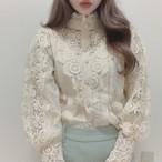 vintage lace tops 3color