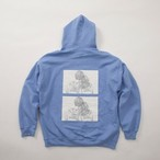 FUSEMACO HOODIE SWEAT - LIGHT BLUE