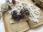裂き編みコサージュ tresor jolie(ヘアクリップ つき)