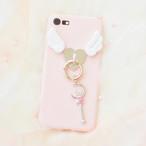 《即納》iPhoneケース 魔法のステッキ 天使のはね iPhone8 iPhone7 iPhone6 6s  ピンク
