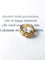 Crochet gold ring (クロシェ ゴールド リング)