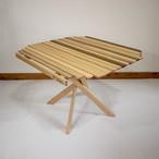"""[ワケあり] KuruKaru! Mid-High Table """"Mix Wood-3""""(クルカルテーブル:銘木ミックス仕様-3)"""