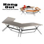 HangOut (ハングアウト) FRT Arch Table (Stainless Top) アーチ テーブル ステンレス トップ アウトドア 用品 キャンプ グッズ テント ファニチャー サイト 組み合わせ 家具 ファミリー
