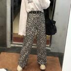 【bottoms】ヒョウ柄ファッションストリート系カジュアルパンツ15010739