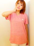 ヨダかVネックTシャツピンク