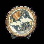 線彫り魚紋の尺2寸皿(約36cm)金城陶器秀陶房 やちむん