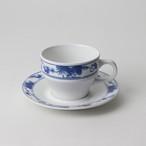 【SL0040】強化磁器 コーヒーカップ 白×ブルー