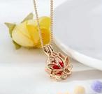 ロータスアロマネックレス☆蓮の花のアロマデュフューザーペンダント ゴールド色