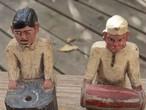 インドの木彫りのおじさん
