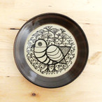セール 送料無料《鳥》 プレート Lisa Larson リサ・ラーソン・ジャパニーズシリーズ 平皿 益子の皿 益子焼 北欧 とり 5.5寸皿
