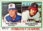 MLBカード 78TOPPS Phil Niekro & Nolan Ryan #206 BRAVES & ANGELS