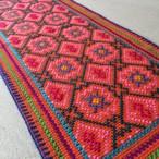 プレイスマット 20x50cm 蛍光ピンク シピボ族の刺繍