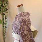 正絹絽 紫苑に萩の夏の小紋