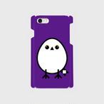 《癒やしの小鳥》シマエナガのオリジナルスマホケース(violet)【送料無料】
