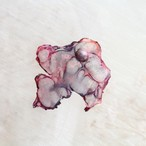 ダークレッド|染めオーガンジーのアートピアス