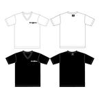 【予約商品】VネックTシャツ フクロウヘッドロゴ&フクロウタグ 白or黒