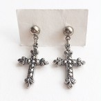 """AVON"" Faux Marcasite Cross pierce[p-449]"