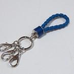 編み紐ループキーホルダー  Blue (在庫あり)