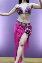 エジプト製ベリーダンス衣装 パープル