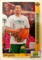 NBAカード 91-92UPPERDECK Dana Barros #102 SUPERSONICS